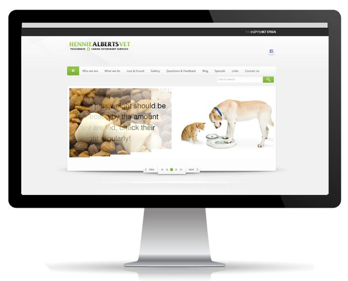 Website Portfolio - Hennie Alberts Vet