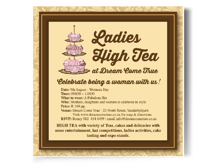 Graphic Portfolio - High-Tea Invite